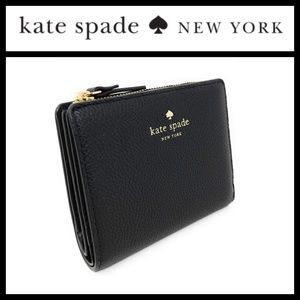 Kate Spade Laurel Way Shawn Black Leather Wallet